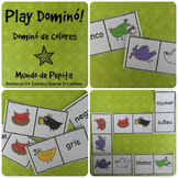Dominó Printable Spanish Game - Colores Colors
