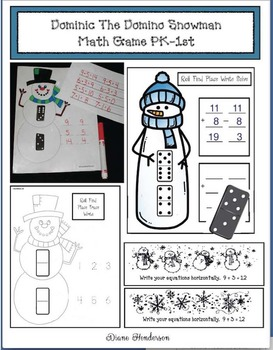 Dominic The Domino Snowman Math Game PK-1st
