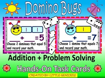 Domino Bugs: Addition and Problem Solving, Missing Addend Fun