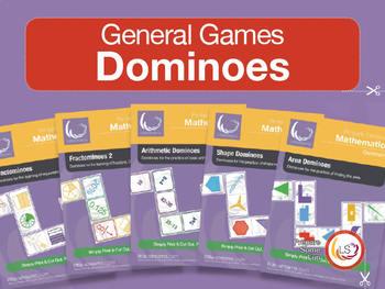 Domino Bundle 1   5 Domino Games for Basic Math - Fraction