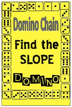 Domino Chain - Find the Slope