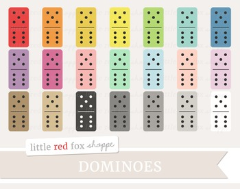 Domino Clipart; Game, Piece, Board Game, Vintage