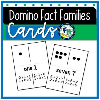 Domino Fact Families Flashcards / Game