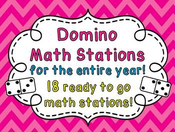 Dominoes Math Centers NO PREP Activities (Entire Year Set