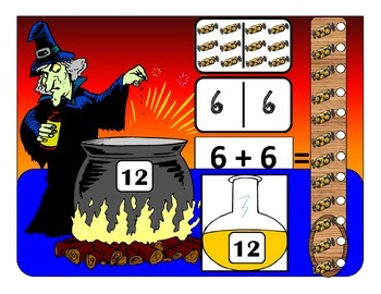 Autism Halloween Domino Counting and Addition