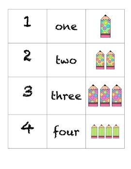 Domino Numbers-Wavy Pencils