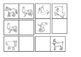 Domino cards - Animals