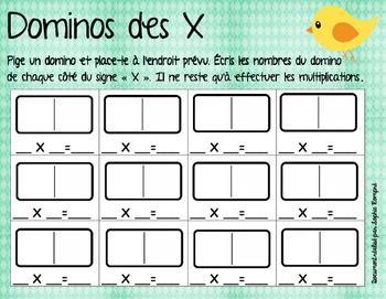 Domino des multiplications