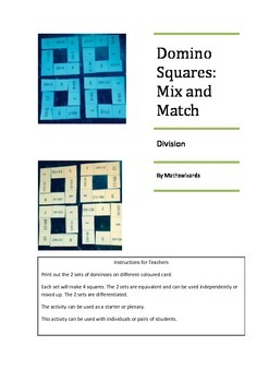 Domino Squares Mix and Match:Division