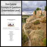 Don Quijote Excerpts and Questions (Intermediate Level)