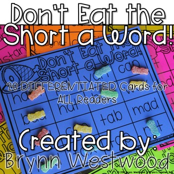 Don't Eat the Short a Word! Differentiated Practice Readin