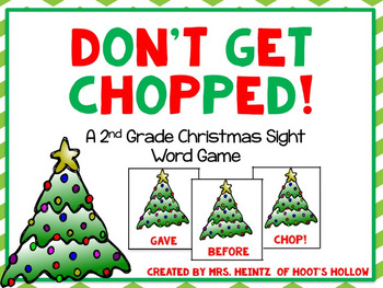 Don't Get Chopped!: A 2nd Grade Christmas Sight Word Game
