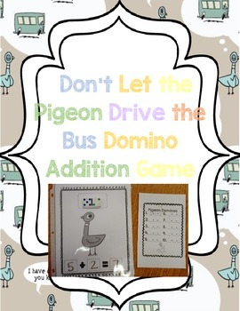 Don't Let the Pigeon Drive the Bus themed Addition Game