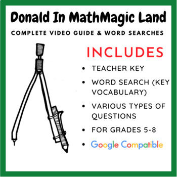 Printables Donald In Mathmagic Land Worksheet donald in mathmagic land video worksheet by william word search puzzles