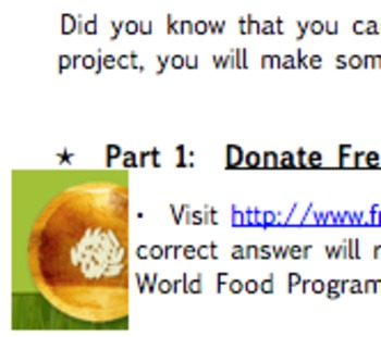 """""""Donate For Free!"""" Math Project"""