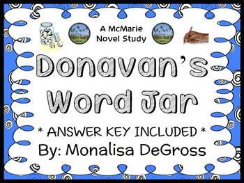 Donavan's Word Jar (Monalisa DeGross) Novel Study / Compre