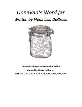 Donavan's Word Jar Guided Reading/Literature Circle Compre