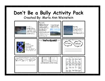 Don't Be a Bully Activity Pack