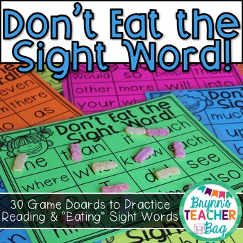 Don't Eat the Sight Word!