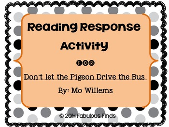 Don't Let the Pigeon Drive the Bus Activity