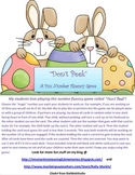 """Don't Peek"" Number Fluency Game for Easter"