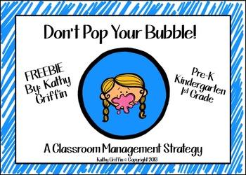 Don't Pop Your Bubble FREEBIE