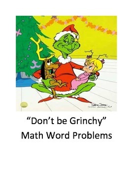 """Don't be Grinchy"" Math Word Problem Task Cards"