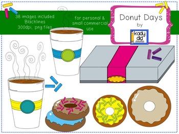 Donut Days Clipart {Kady Did Doodles}