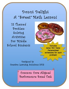 Donut Delight; Advanced Problem Solving Task Activities