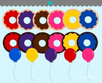 Donut Party Clip Art