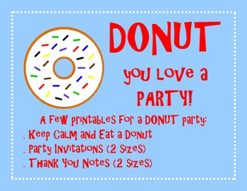Donut Party Printables