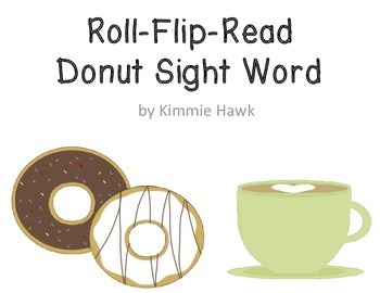 Donuts and Coffee Sight Word Flip