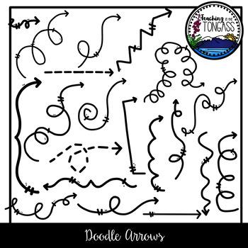 Doodle Arrows Clipart Bundle