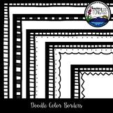 Doodle Color Borders Clipart Bundle