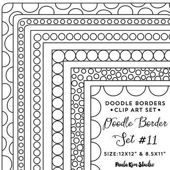 Doodle Border Set #11