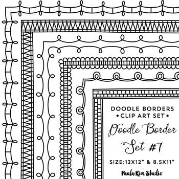 Doodle Border Set #7