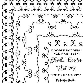 Doodle Border Set #8