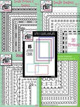 Doodle Borders Bundle ~Dots of Fun Designs~
