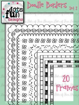 Doodle Borders & Frames Set 2 ~Dots of Fun Designs~