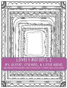 Doodle Borders- Lovely Borders Set 2