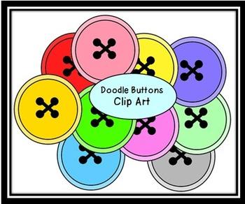 Doodle Buttons Clip Art
