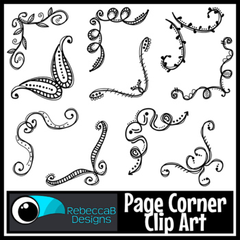 Doodle Photo Corners Clip Art