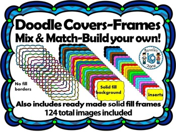 Doodle Cover Pages- Build Your Own (124 images) Personal &