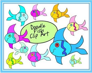 FREE Doodle Fish Clip Art