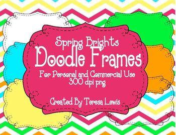 Doodle Frames Spring Brights