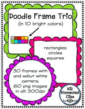 Doodle Frames Trio - Squares, Circles, and Rectangles
