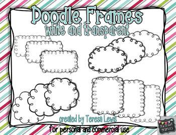 Doodle Frames-White and Transparent