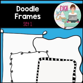 Doodle Frames and Borders clipart - Set 1