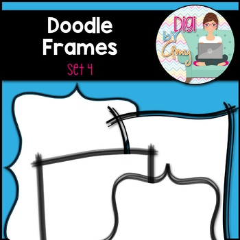 Doodle Frames and Borders clipart - Set 4