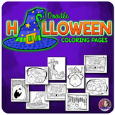 Halloween Doodle Coloring Sheets